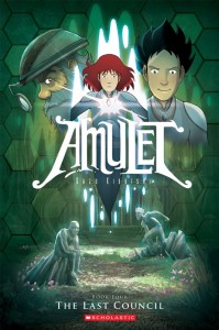 The cover to Amulet Book Four